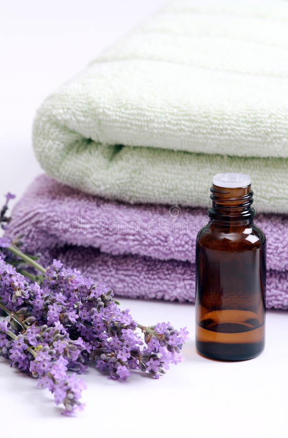 Download Aromatherapy Oil And Lavender Stock Photo - Image: 15838676