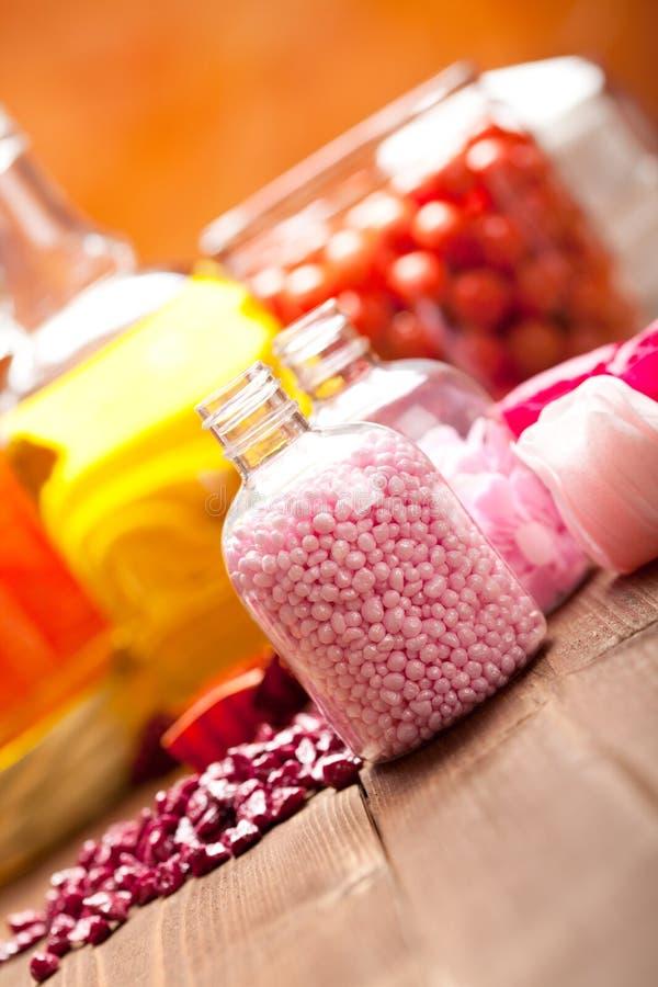 Aromatherapy - Oils And Bath Salt Royalty Free Stock Photo