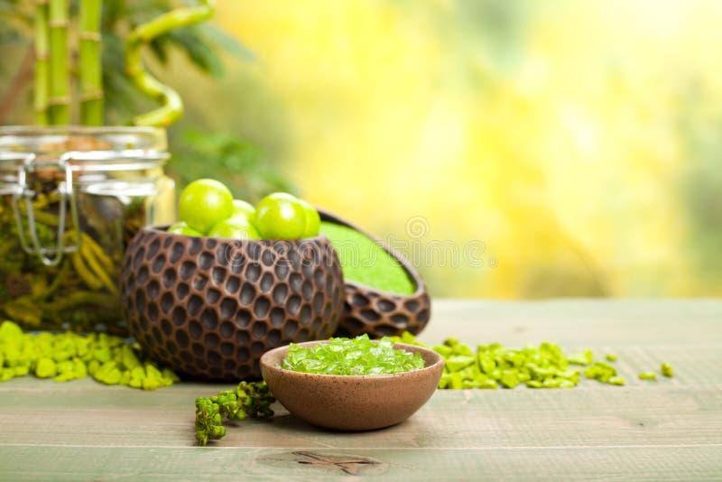 Aromatherapy salts royalty free stock photos