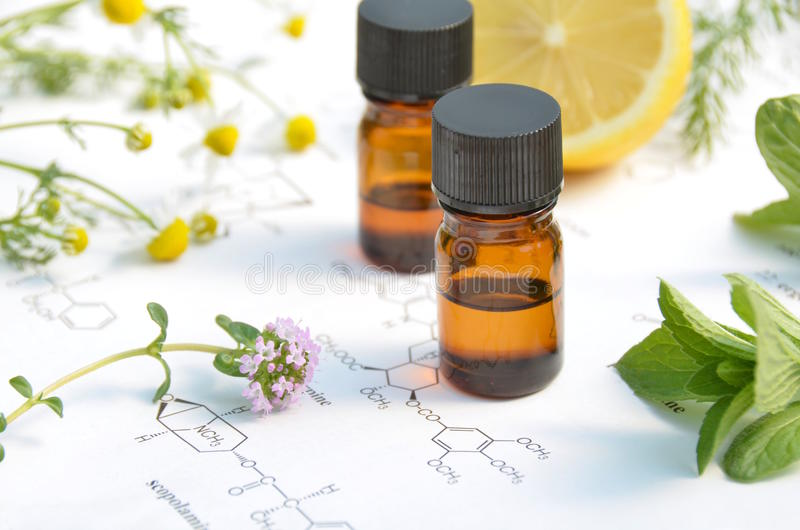 Aromatherapy and science royalty free stock image