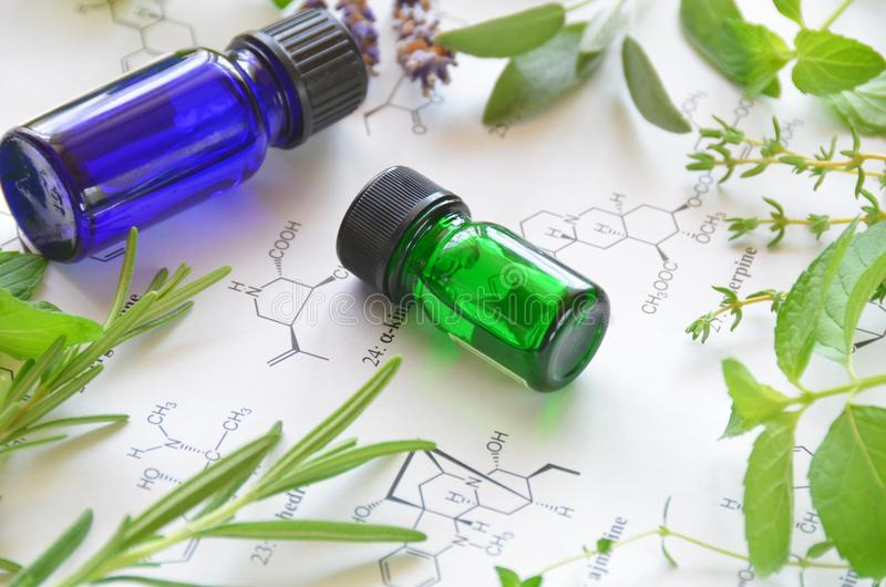 Aromatherapy and science stock photo