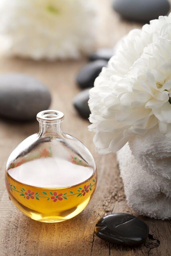 aromatherapy setbrunnsort arkivfoto