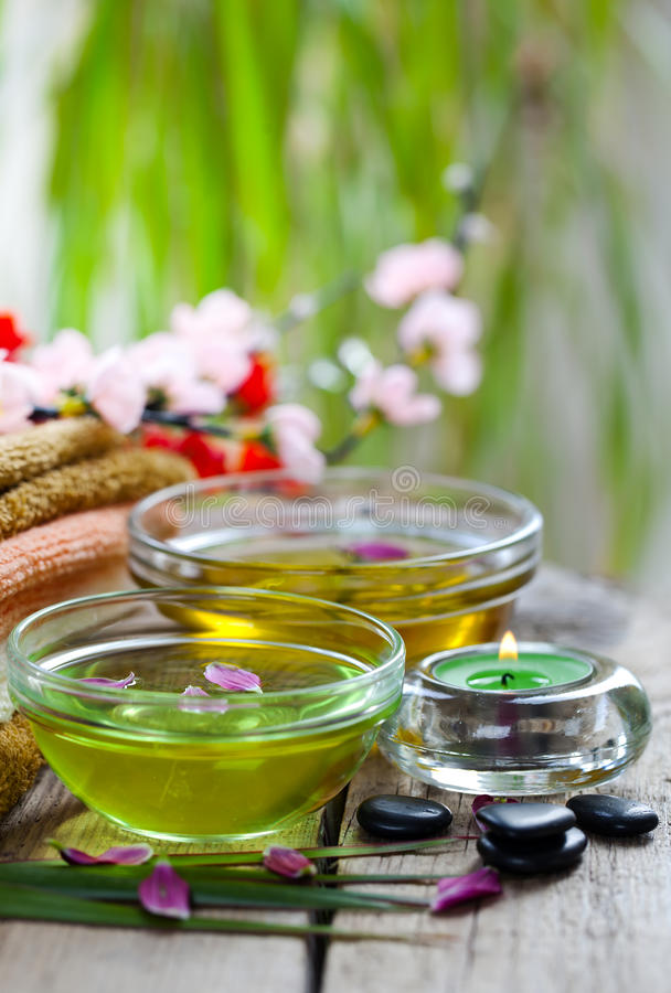 Aromatherapy.Spa stock image. Image of focus, leaves ...