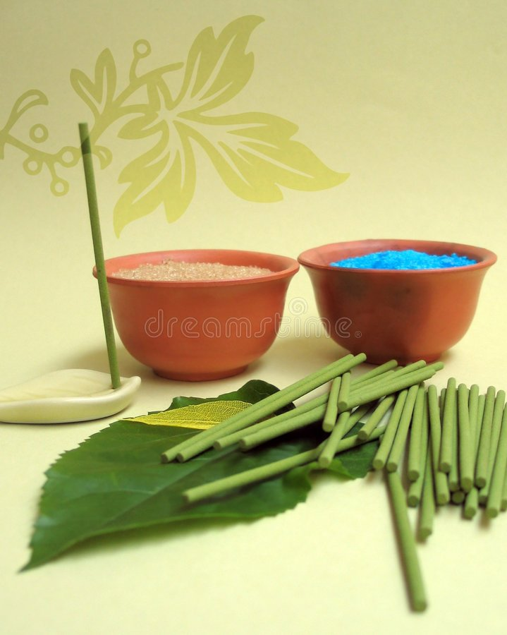 Aromatherapy spa elements stock photography