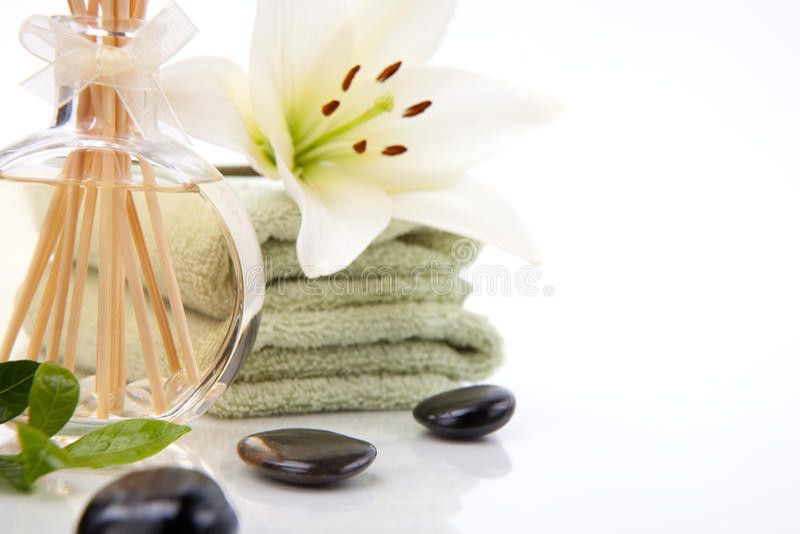 Aromatherapy spa reeks stock foto