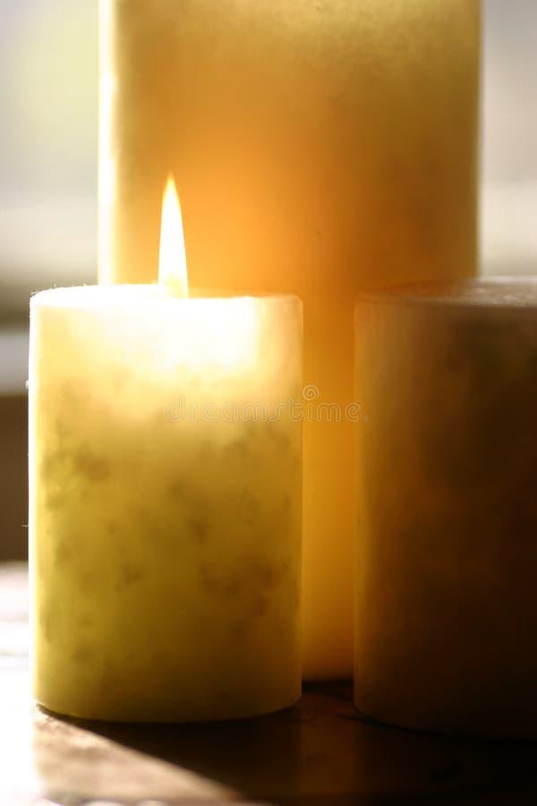 Aromatherapy Stearinljus Arkivbilder