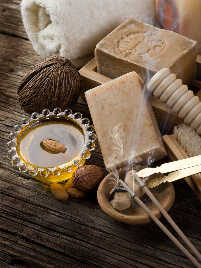 Aromatherapy und Badekurortkonzept lizenzfreies stockbild