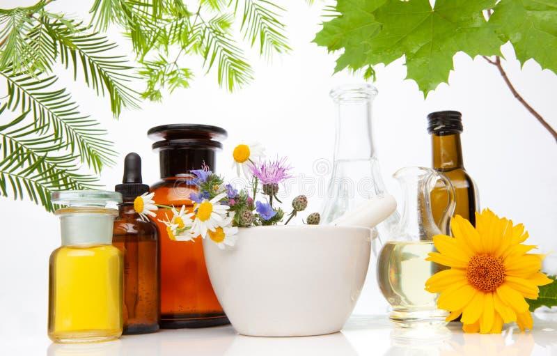 Aromatherapy - zapachu traktowanie medycyna naturalna obraz stock