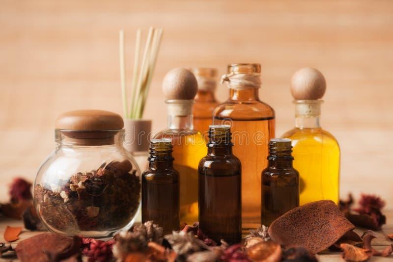 Aromatherapy Zubehör stockfoto