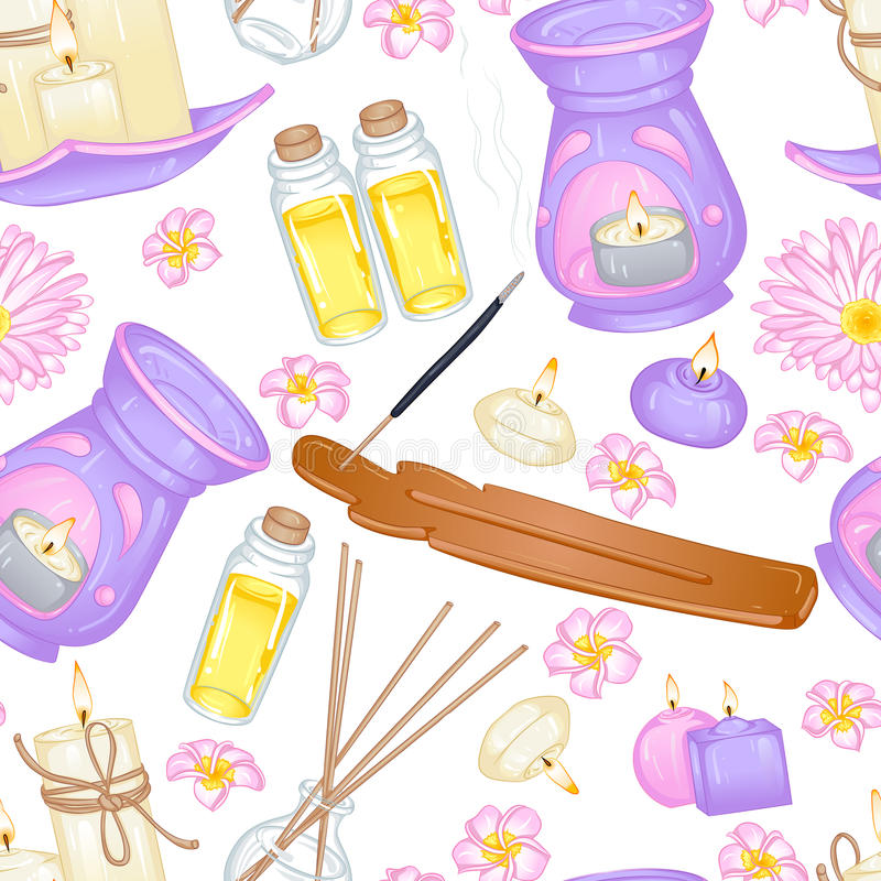 Aromatherapypatroon vector illustratie
