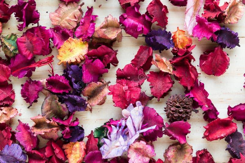 Aromatherapypotpurriblandning av torkade aromatiska blommor royaltyfri foto
