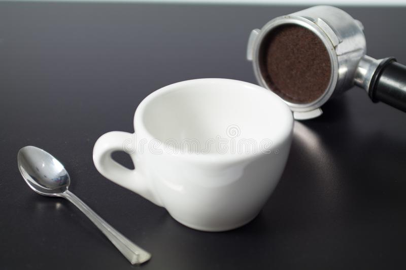Aromatic black coffee stock photography