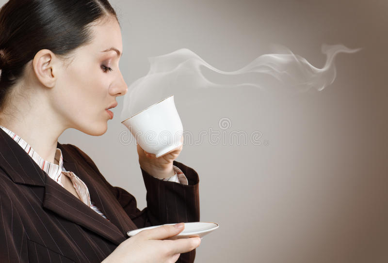 Aromatic coffee stock image