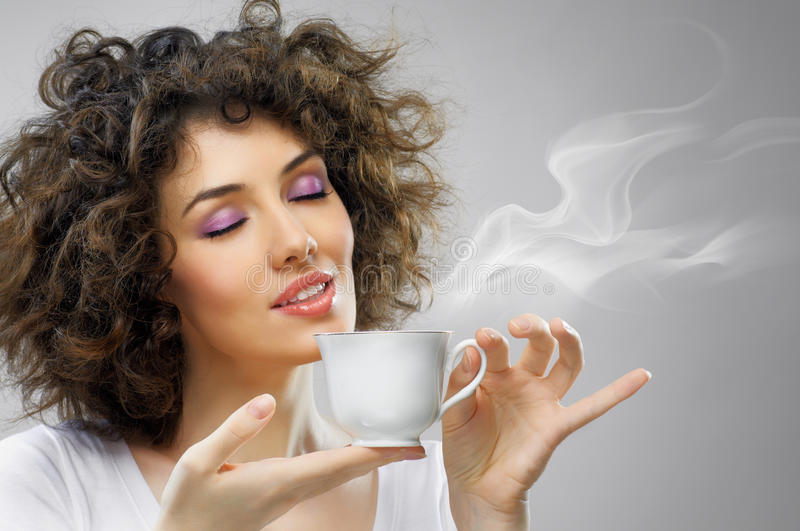 Download Aromatic coffee stock photo. Image of people, femininity - 18183716