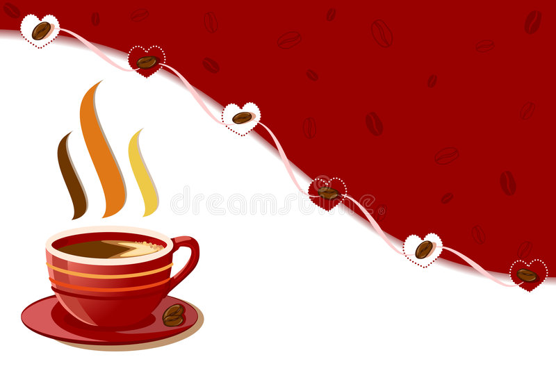 Download Aromatic Fresh Cup Of Coffee With Hearts Design Royalty Free Stock Images - Image: 9229759