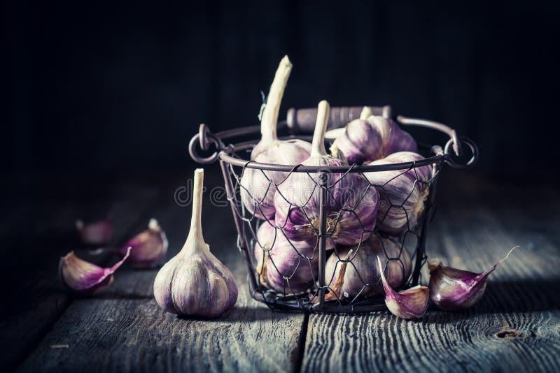 Aromatic and fresh garlic royalty free stock photo