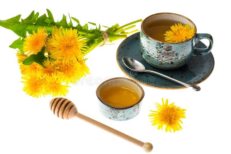 Aromatic fresh sweet honey from dandelions. Studio Photo stock photo