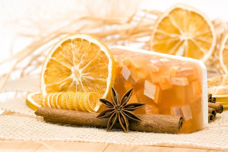 Aromatic glicerin soap royalty free stock photo