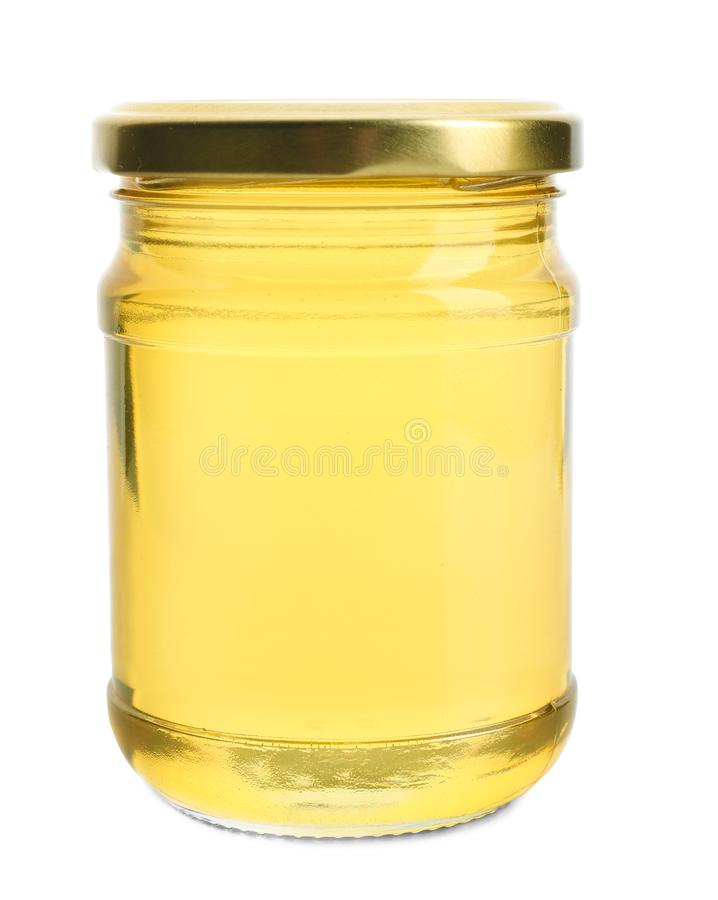 Aromatic honey in jar, stock images