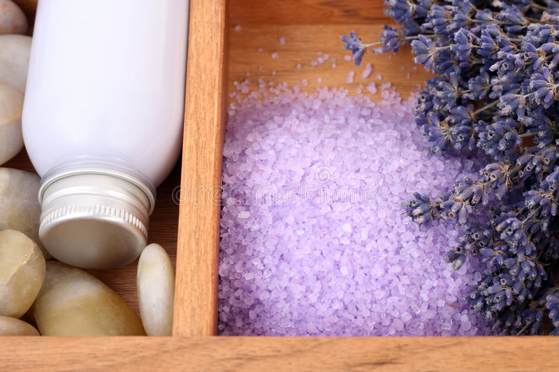 Aromatic lavender bath stock image
