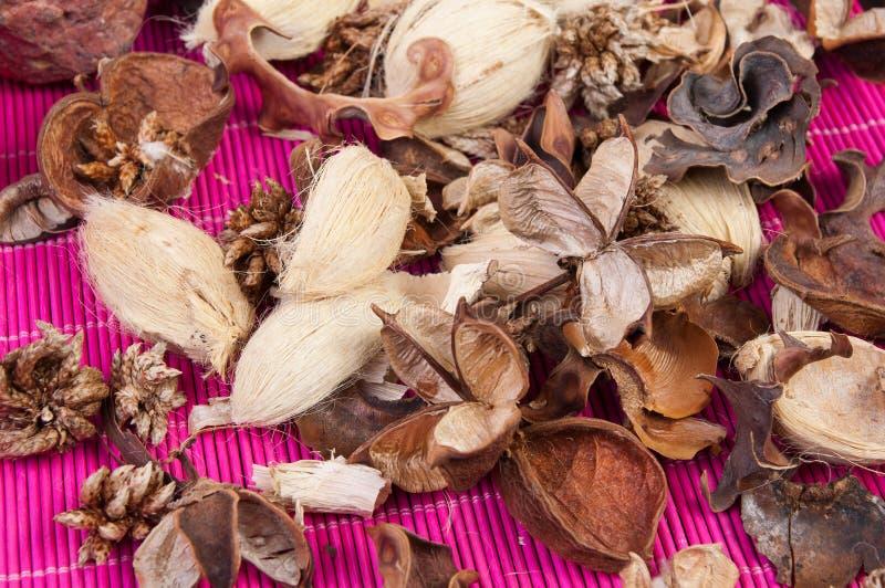Aromatic pot pourri. Close up of decorative and aromatic pot pourri stock photography