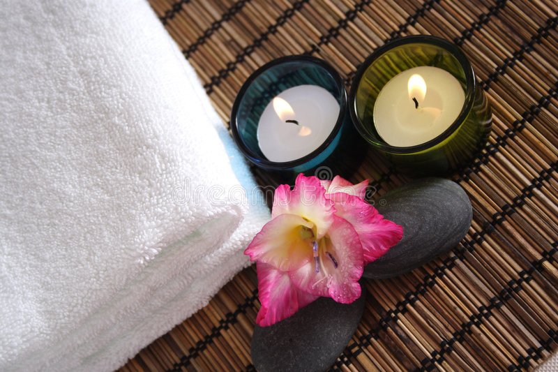 Aromatic Spa Objects stock photography