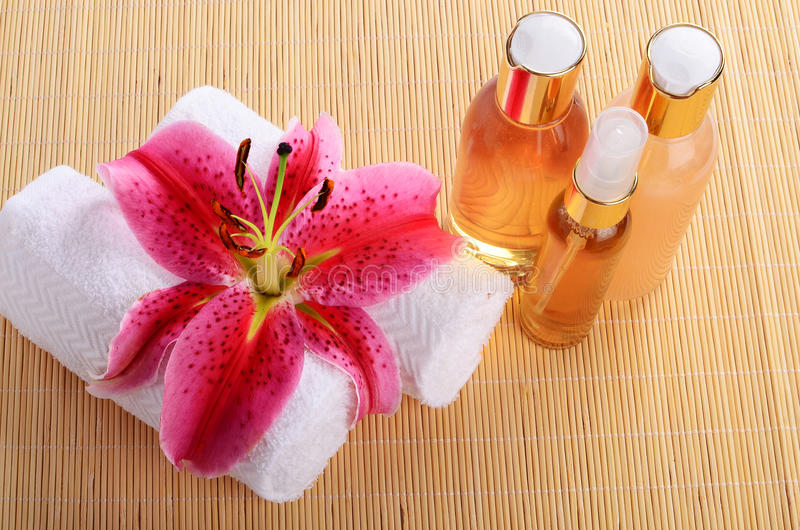 Aromatic Spa Oils royalty free stock photography