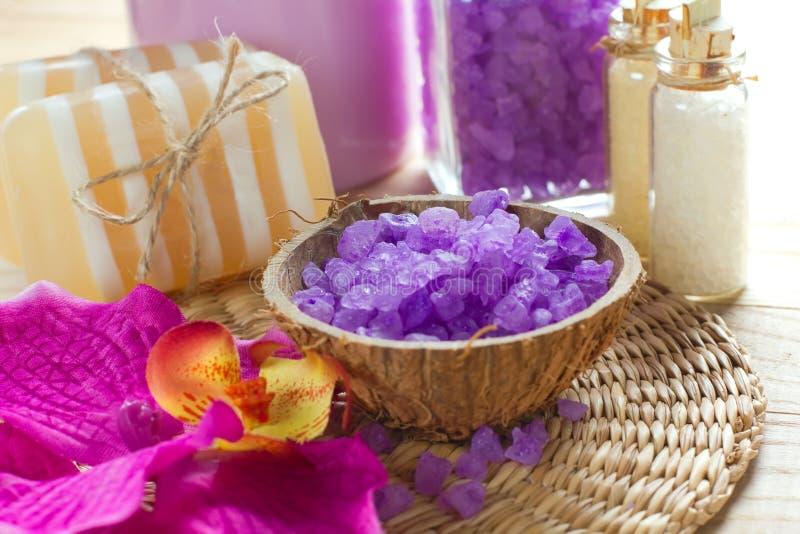 Aromatic Spa Set Stock Image