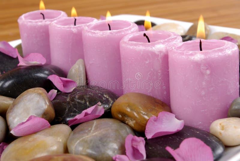 Aromatische Kerzen lizenzfreies stockfoto