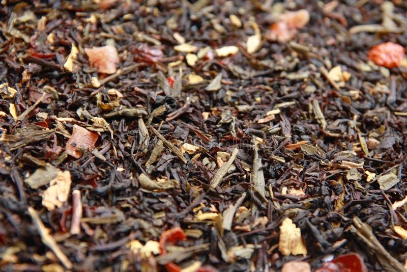 Aromatische thee met vruchten en bloemen. royalty-vrije stock foto's