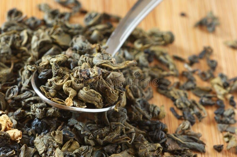 Aromatisierter grüner Tee stockbild