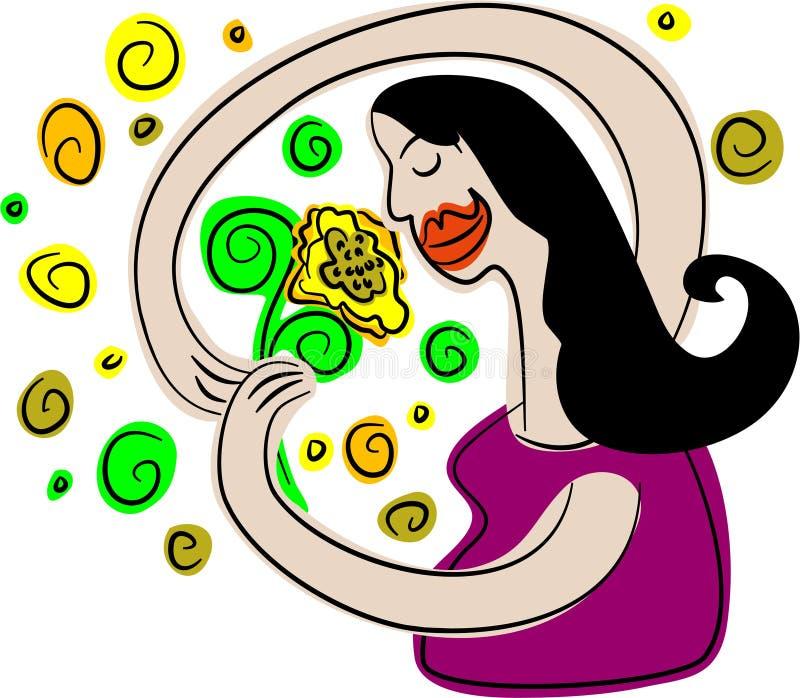 aromatisk blomma royaltyfri illustrationer