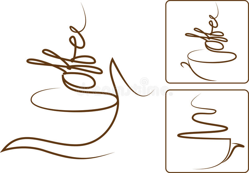 Arome de café illustration stock