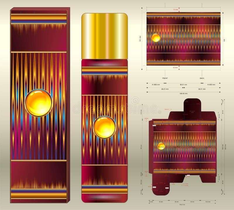 Aromes cosmétiques d'aérosol des tons rouges photographie stock