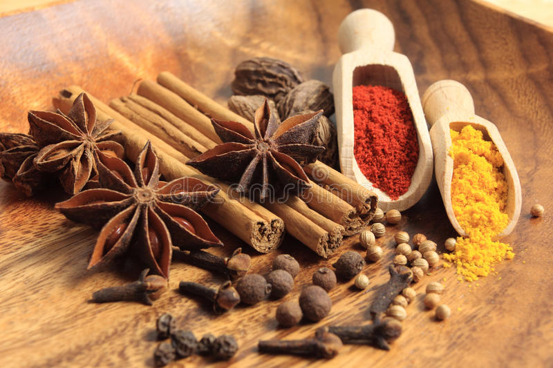 Arometic spices royalty free stock photo