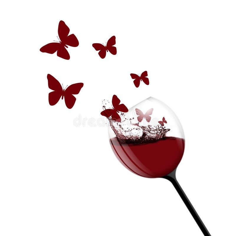 aromrött vin royaltyfri illustrationer