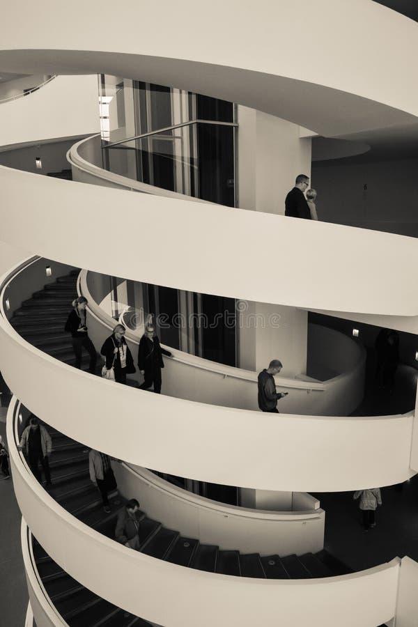 ARoS Art Museum, Aarhus, Denmark - stair spiral (2) royalty free stock photography