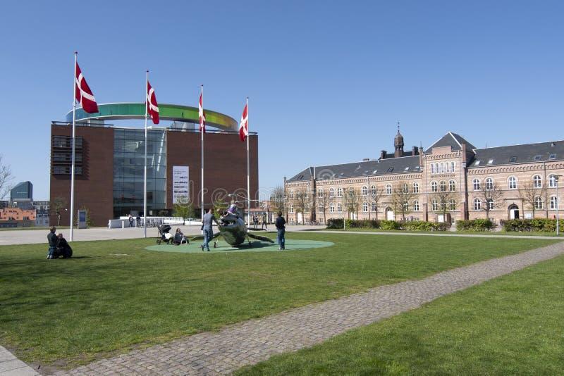 Aros art museum Aarhus. Exterior view of the contemporary art museum Aros, Aarhus, Denmark royalty free stock image