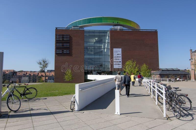 Aros art museum Aarhus. Exterior view of the contemporary art museum Aros, Aarhus, Denmark stock photography