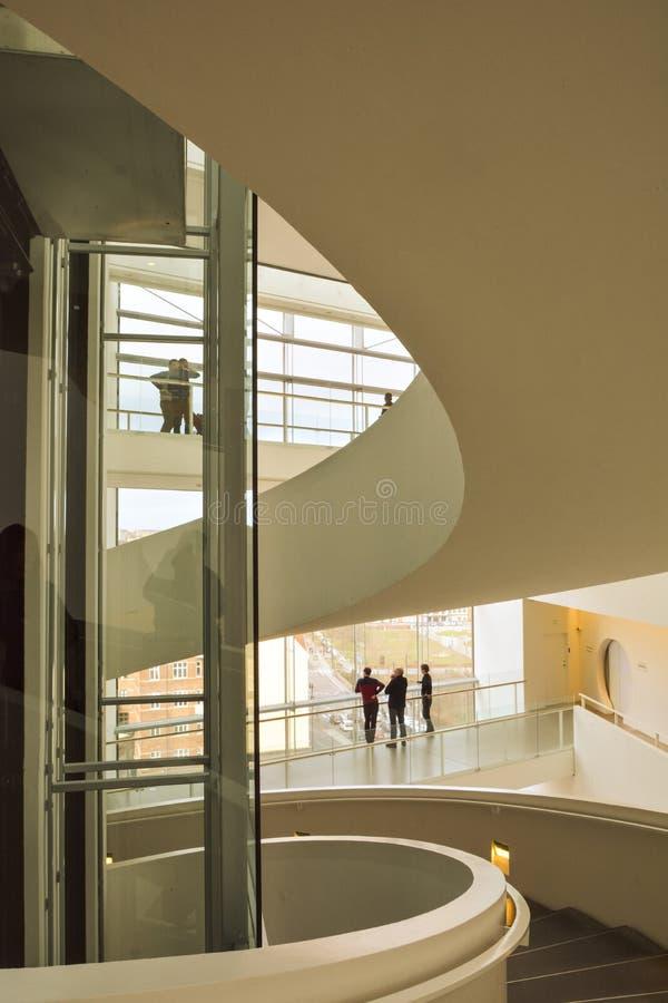 Aros art museum - interior spiral stairway stock photography