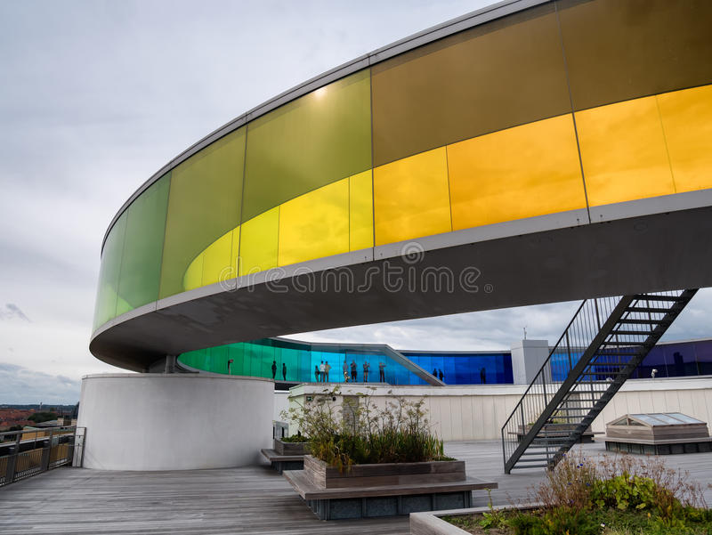 Aros contemporary art museum Aarhus, Denmark. Aros contemporary art museum in Aarhus, Denmark stock images