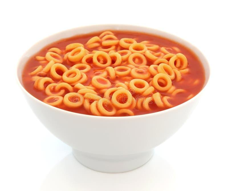 Aros do espaguete fotografia de stock