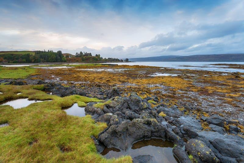 Aros on the Isle of Mull. Aros near Tobemory on the Isle of Mull in Scotland stock photo