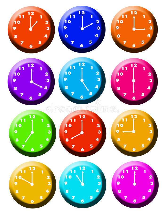 Around the clock 2 royalty free stock images