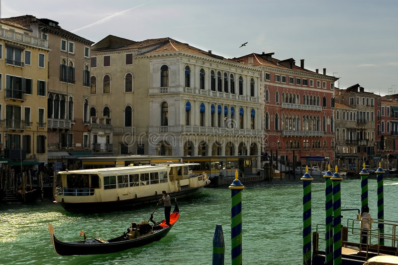 Around the Grand Canal, Venice stock photography