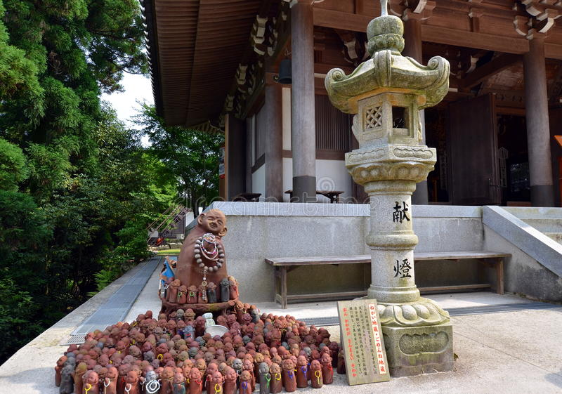 Around Reikado Hall, Mount Misen trail on Miyajima Japan. stock photo