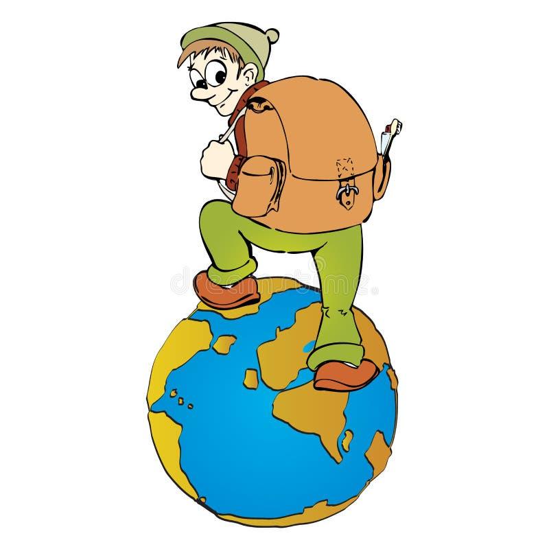 Around the world vector illustration