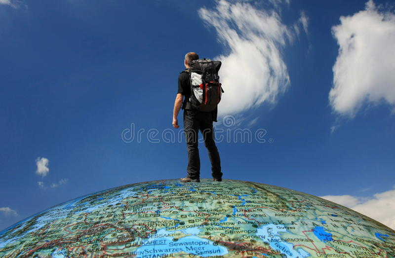 Around the world royalty free stock photos