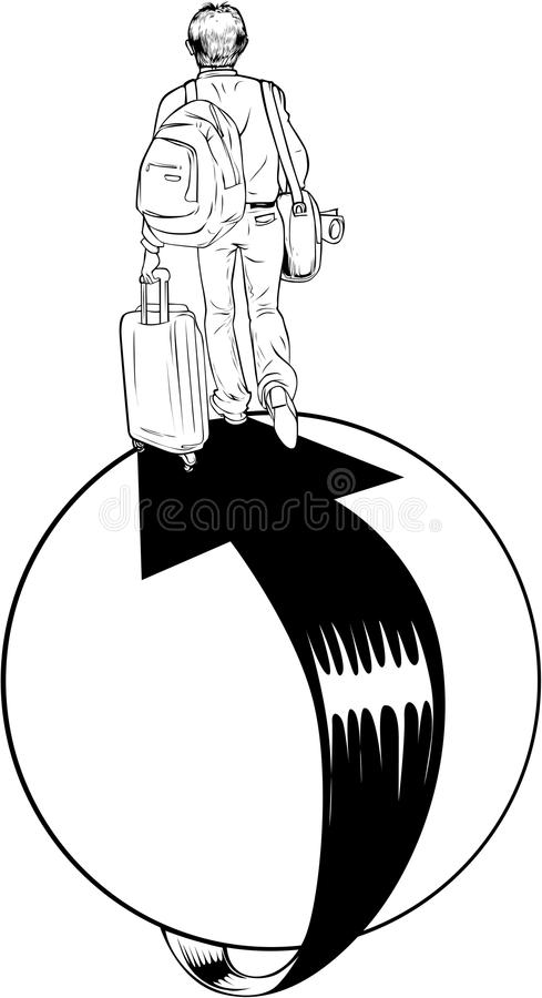 Download Around the world stock vector. Image of backpacks, tourists - 31678698