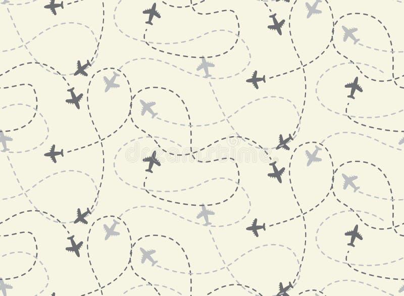 Around the world seamless pattern vector illustration